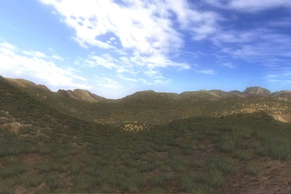 Desert range with shrubbery!