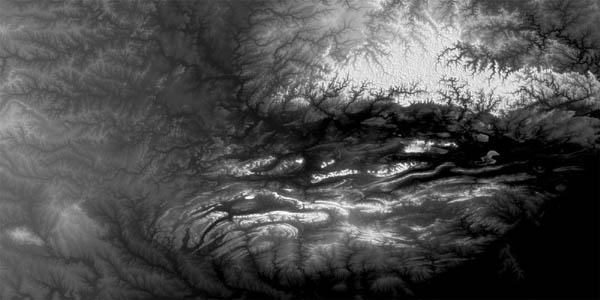 Satellite elevation data