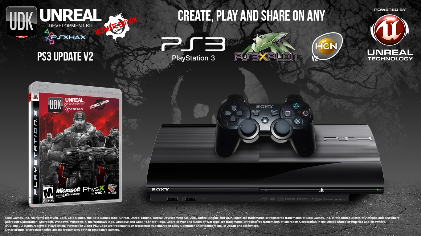 UDK ULTIMATE PS3 UPDATE V2 - Create, Play and Share on ANY