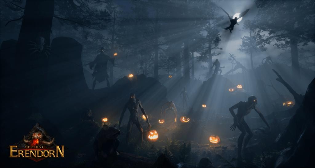 Halloween scene from Depths of Erendorn, made in UE4