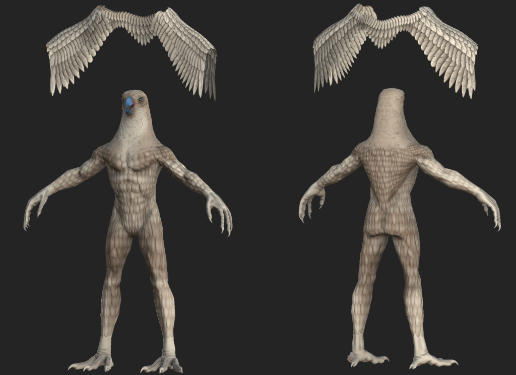 Textured 3D model of Parakaw from Depths of Erendorn