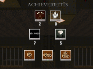 Showing some of the achievements you've obtained throughout the campaign.