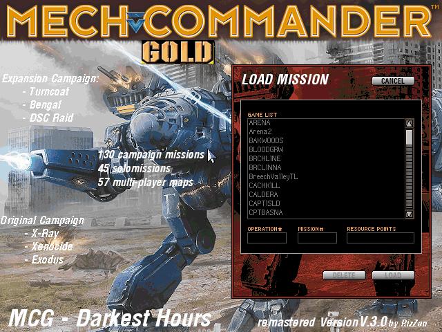 Multi-Player mission scenario loading screen
