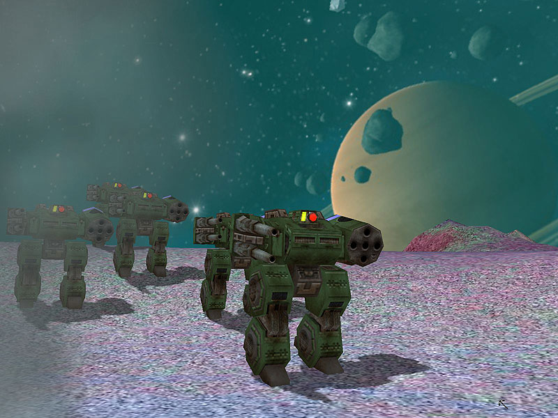 Mech pilot training, on the airless wastes of a barren moon.