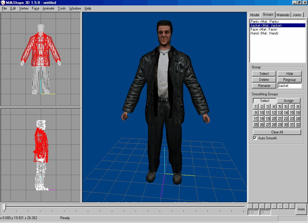 Exporting Max Payne 1 Models From Latest Versions Of Milkshape 3d