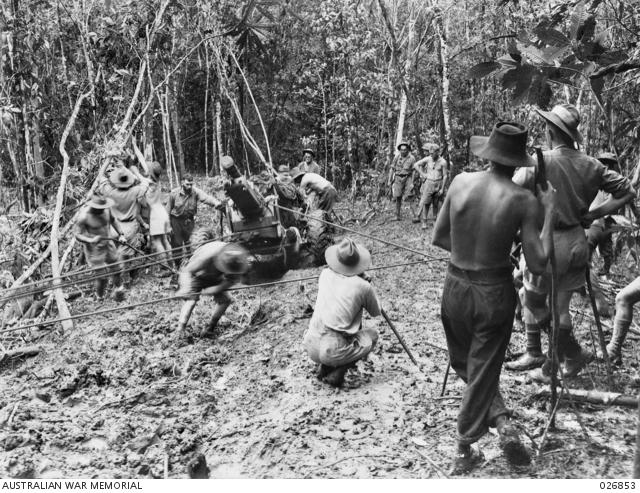 25-POUNDER GUNS OF B TROOP, 14TH FIELD REGIMENT, ROYAL AUSTRALIAN ...