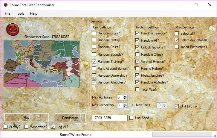 v1.8alpha main screen