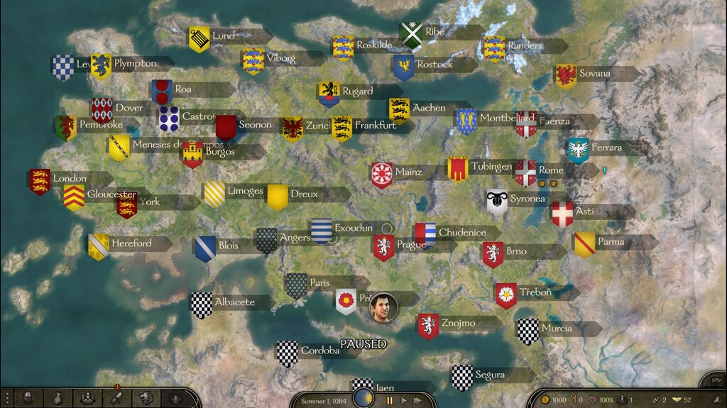 Implementing some of the major households and their possessions and banners; world map will be done when taleworlds gets their act together and fixes their editor.