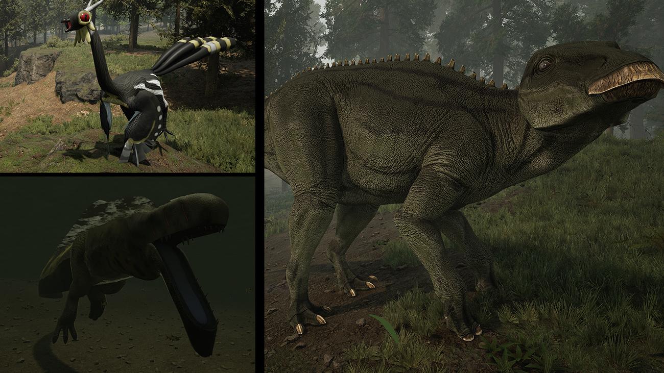 Left: K-23 Creatures. Right: Divine Beasts: Shantungosaurus
