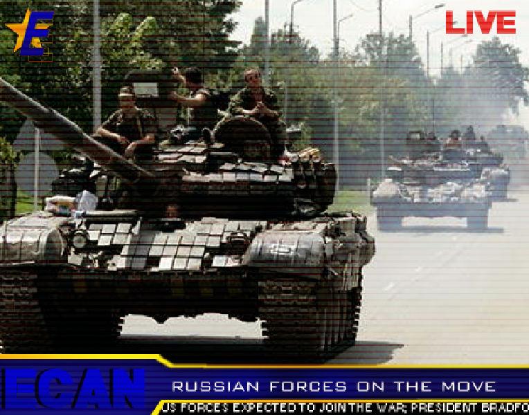Русские уже вступили в город Гори. Там около 50 российских танков и
