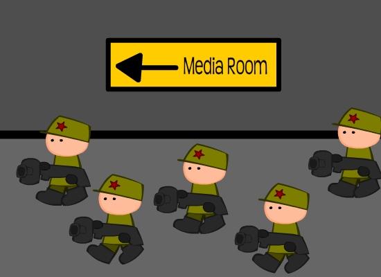 To The Media Room, Comrades!