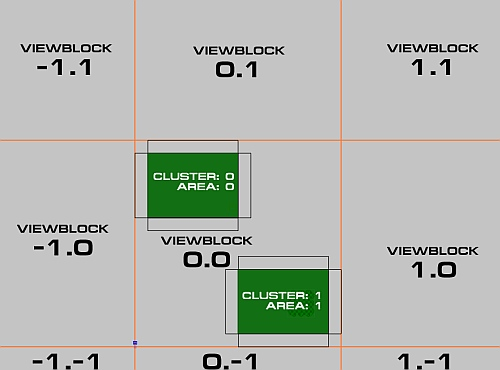 Two Rooms inside one Vis-Block