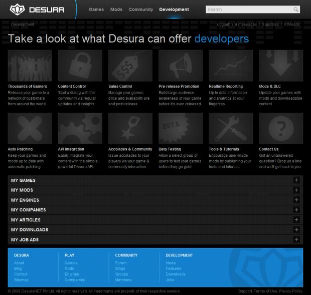 Developer functionality