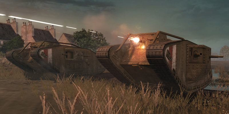 MKIV tanks advancing forward
