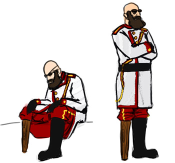 Captain Mulholland character concept