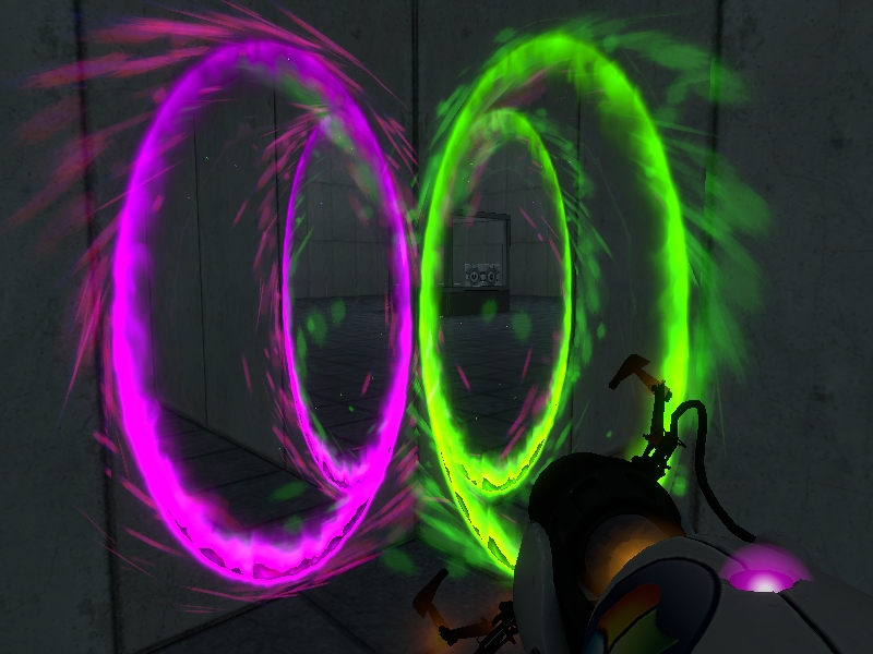 An example of finished recolored portals.