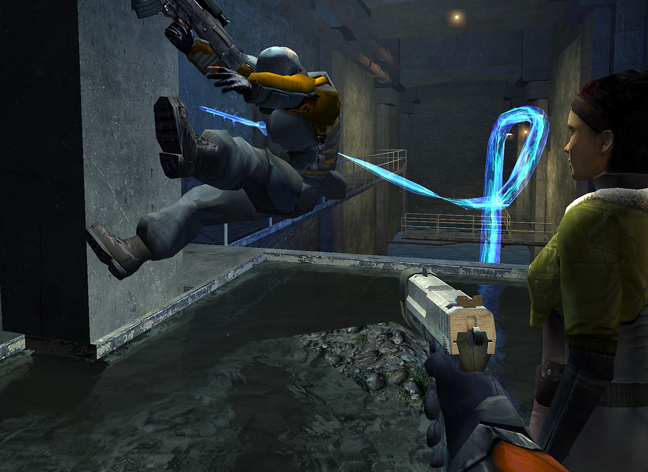 Combine Being Impaled By A Hydra in the HL2 BETA