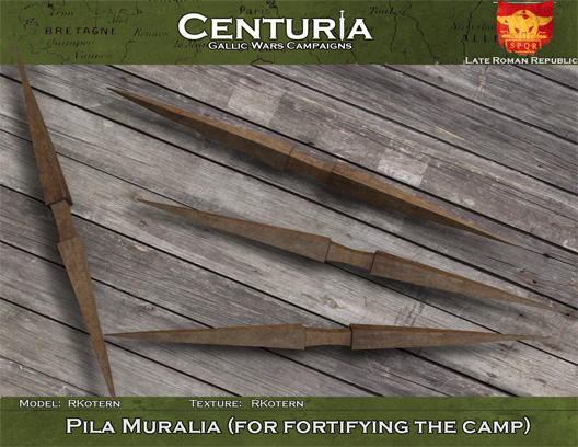 Pila Muralia (for fortifying the camp)
