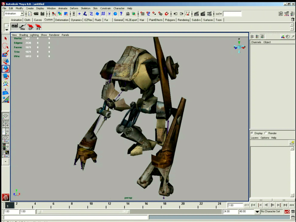 Character Design Maya Tutorial : Quot character design and integration with maya released on