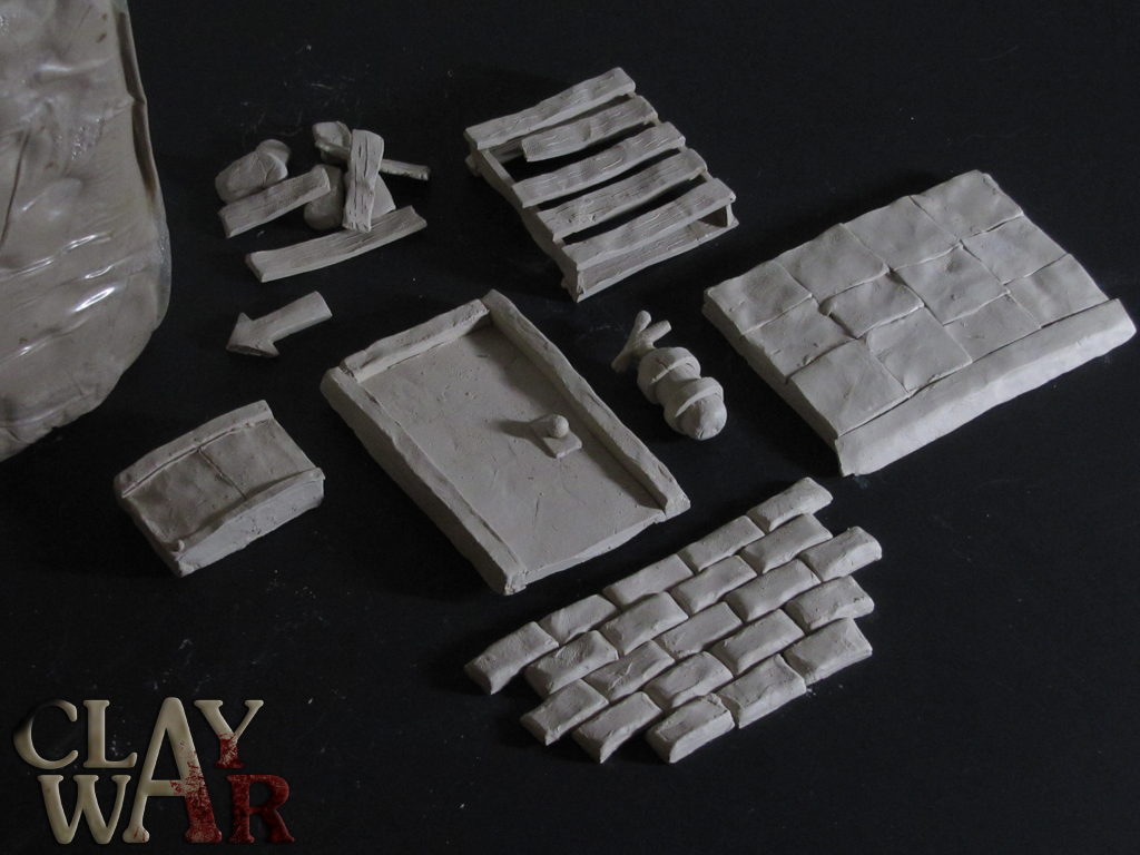Clay props from Dr. Jack's stage development