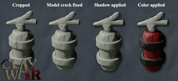 Showing how a model is finished in post-processing