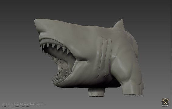 First Picture of the Week is a high-res modeling render of our beloved Carcharodon Polemos (Shark Creature) from when Bokaja modeled the latest iteration of this genetic experiment!