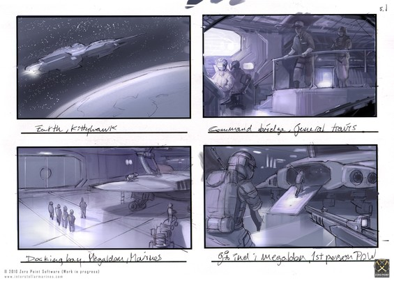 A few slides from an early storyboard we've created to visualize the moments envisioned for our ambitious coop campaign called IM: Prologue, which allows players to experience the back story leading up to