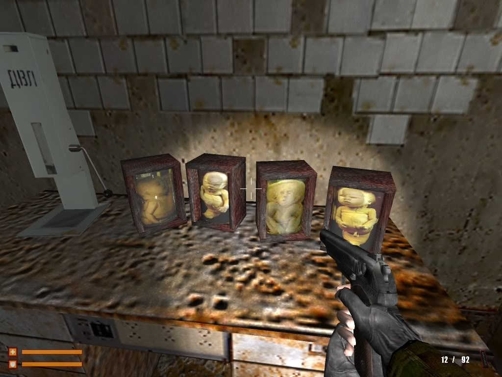 The ugly bench texture is much more horrifying than the dead baby jars!