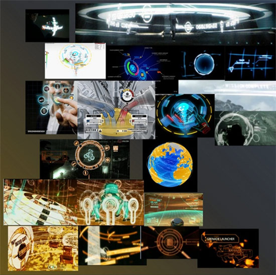 Moodboard for Interface