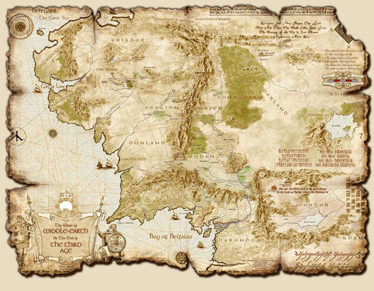 Hlavní mapa The Middle-earth hry Third Age: Total War