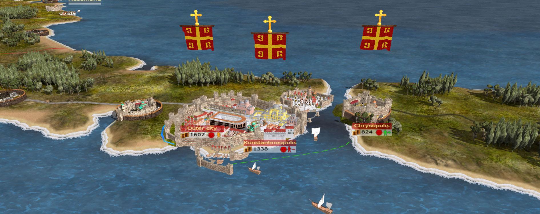 Byzantium Constantinople Map