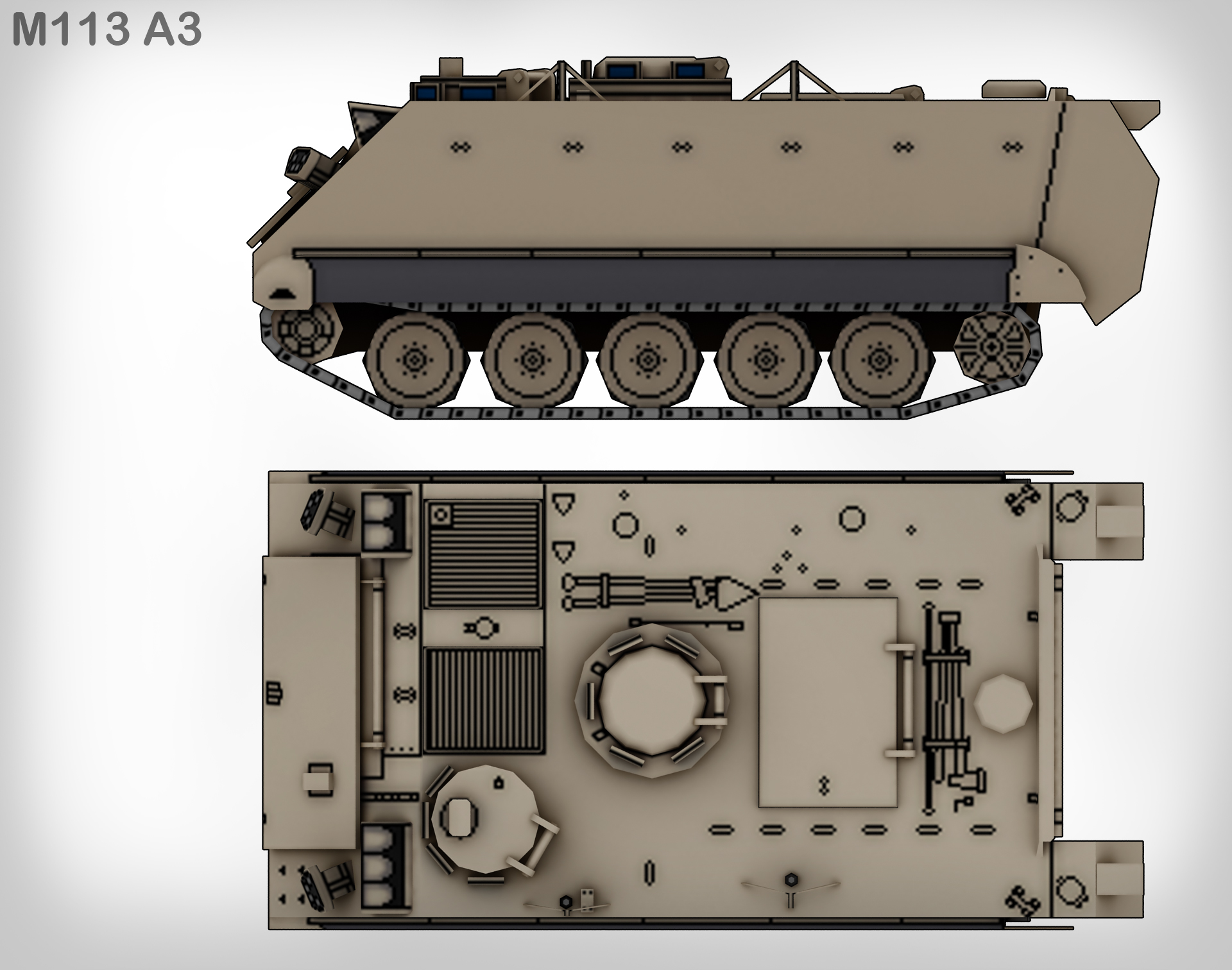 M113 Line Drawing The M113 is an Armored