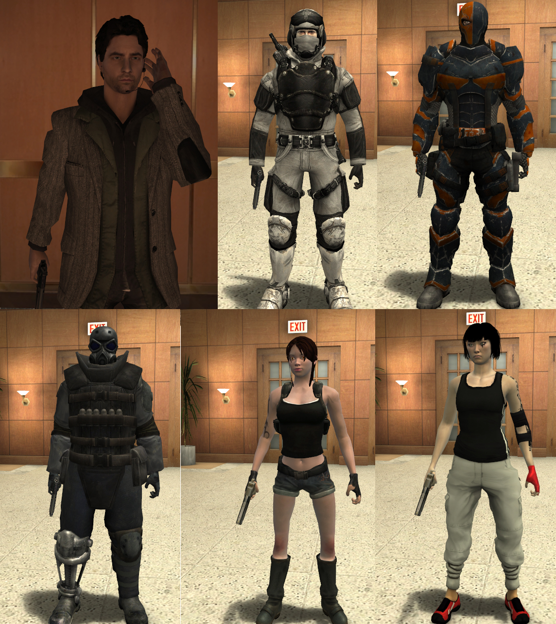 Antievil S Player Models Pack Addon Max Payne 2 Mod Db