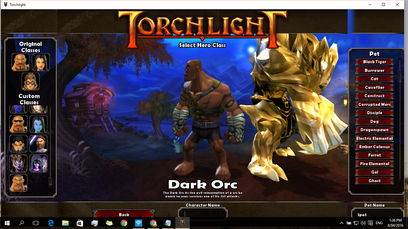 Torchlight  Change Build