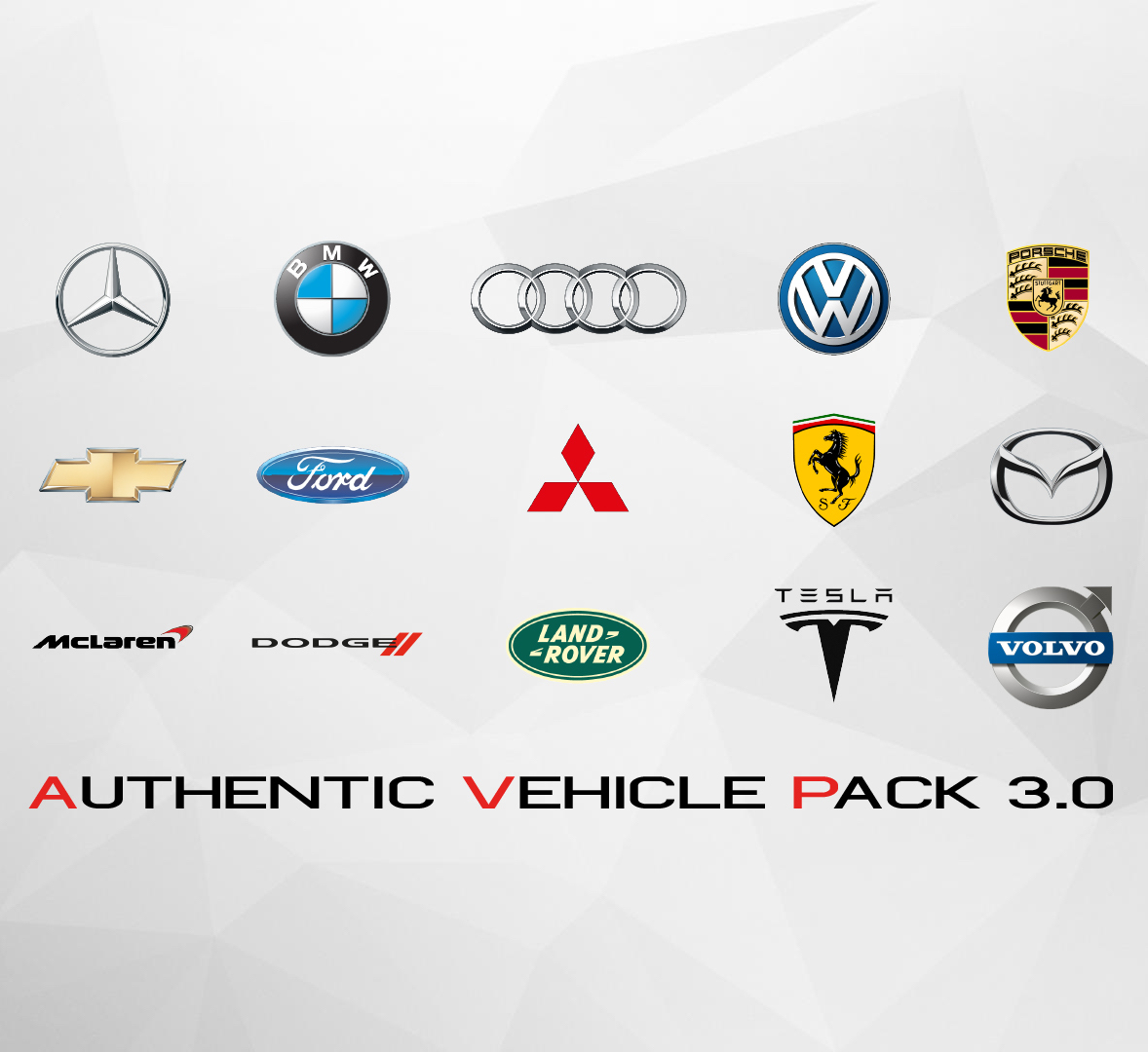 Build 3 0 addon - Authentic Car Pack (OIV) GTA V UPDATE 4 0 mod for