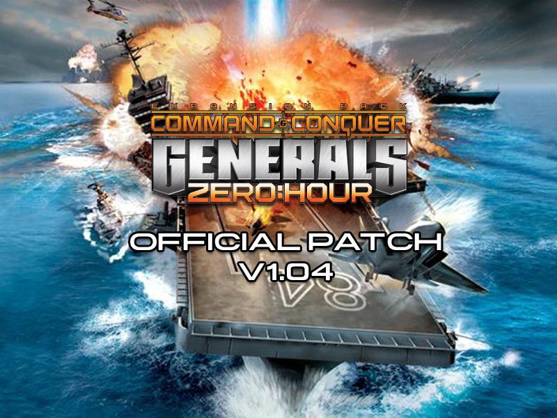 CC Generals Zero Hour English v104 Patch file
