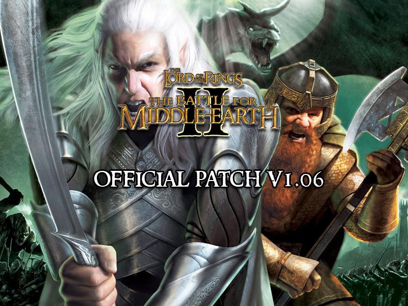 bfme 2 1.06 patch ve crack