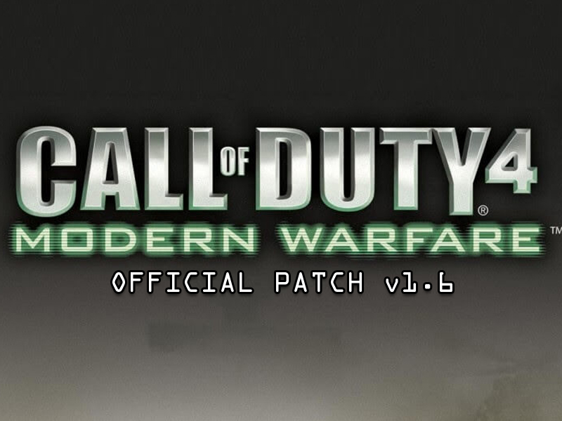 Game patches: call of duty 4: modern warfare v1. 6 to v1. 7 patch.