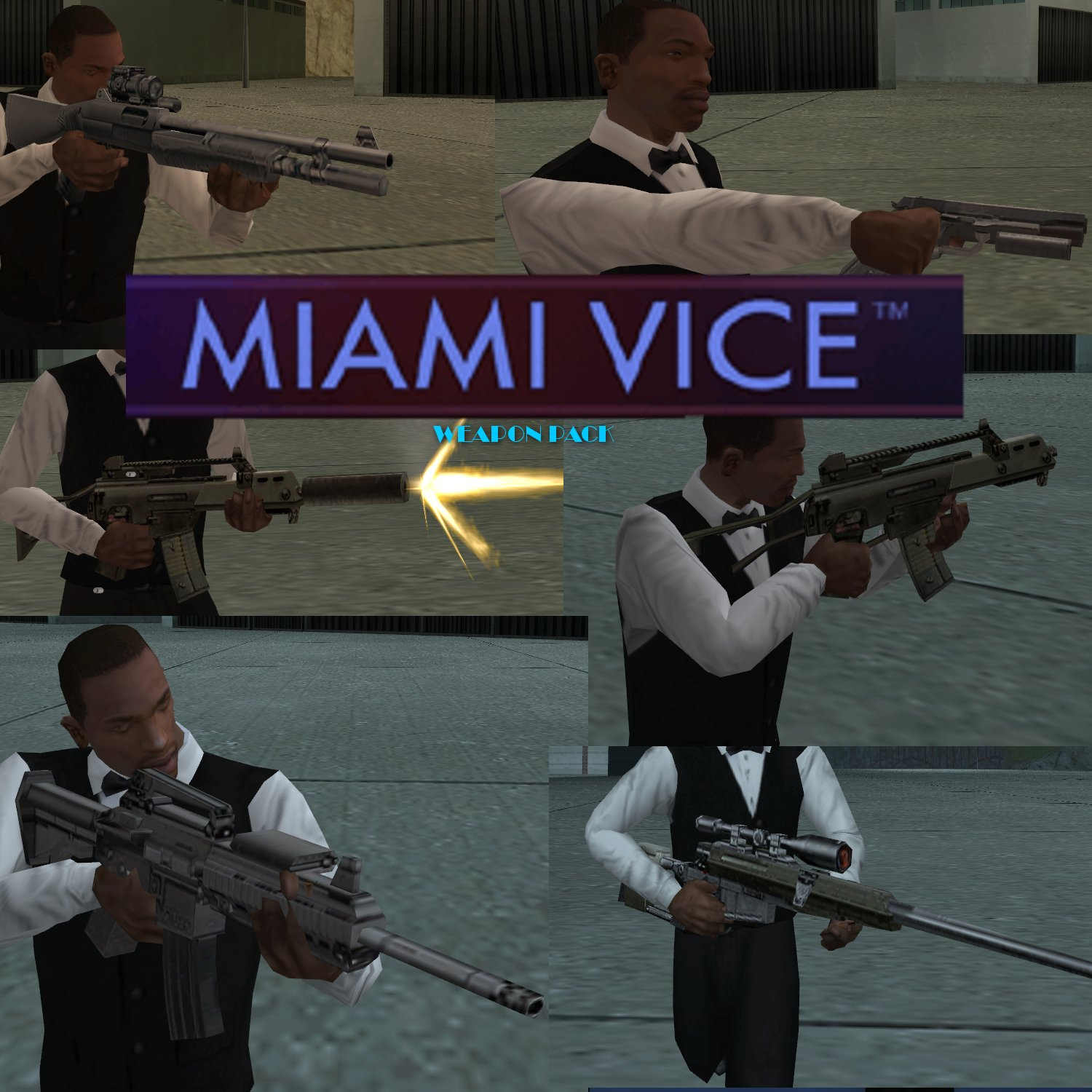 Miami Vice Weapons Pack Addon