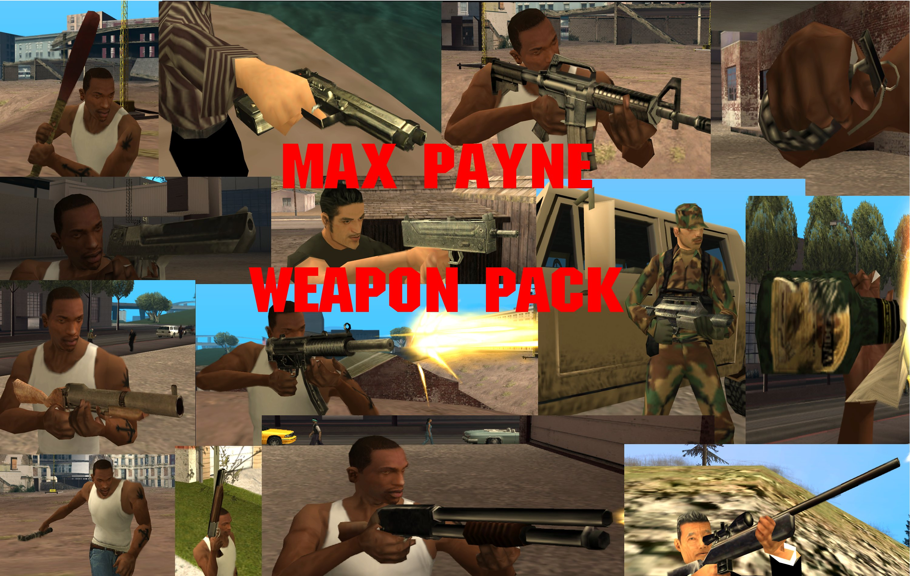 Max Payne Weapon Pack (San Andreas Edition) addon - Mod DB
