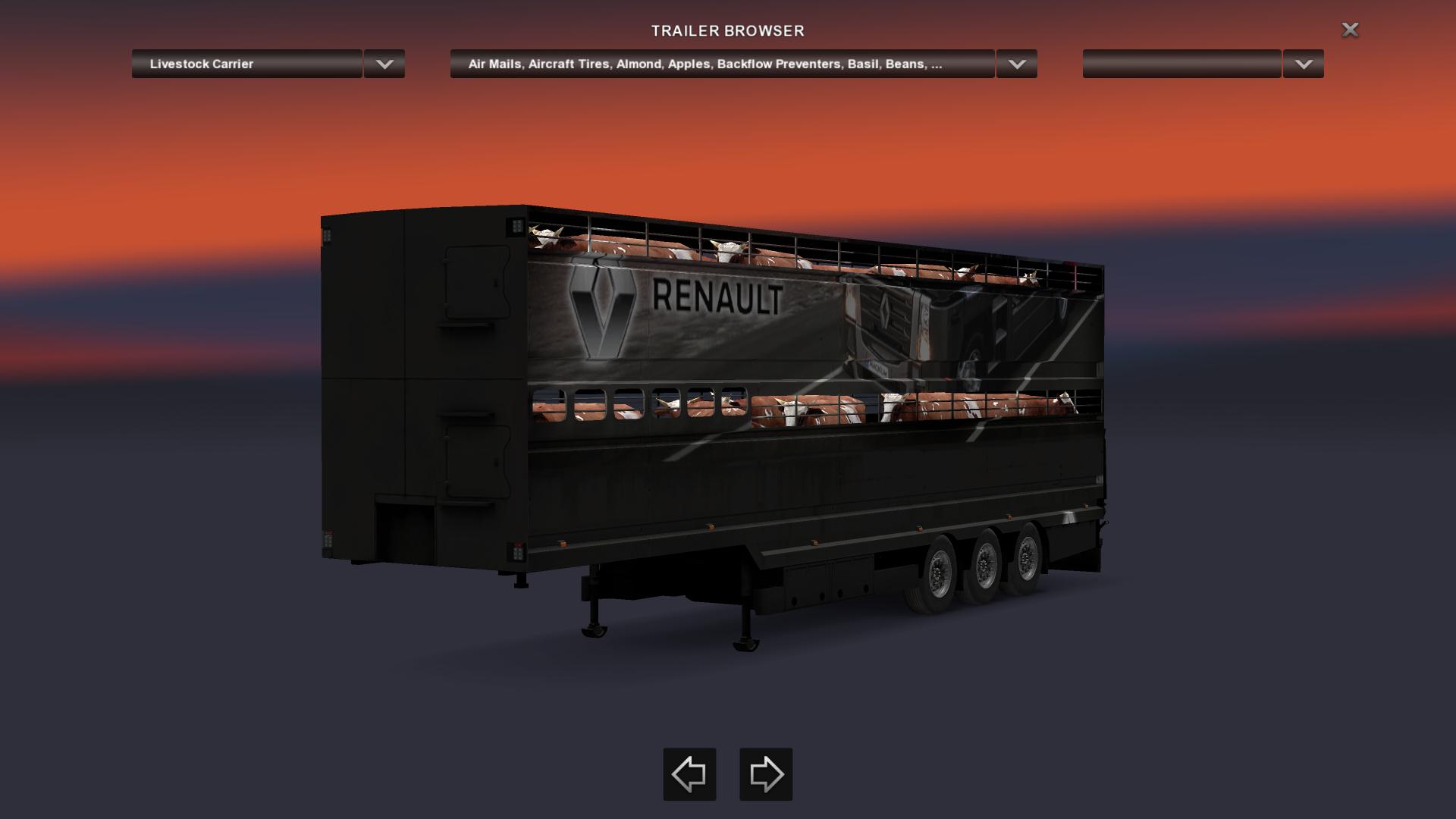 Livestock Trailers Renault Skin Pack file - Euro truck ...