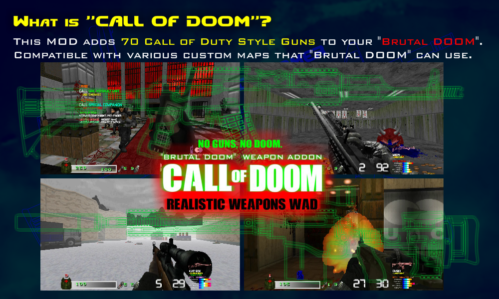 CALL OF DOOM V0 81 : COD Style 70 Weapons for DOOM addon