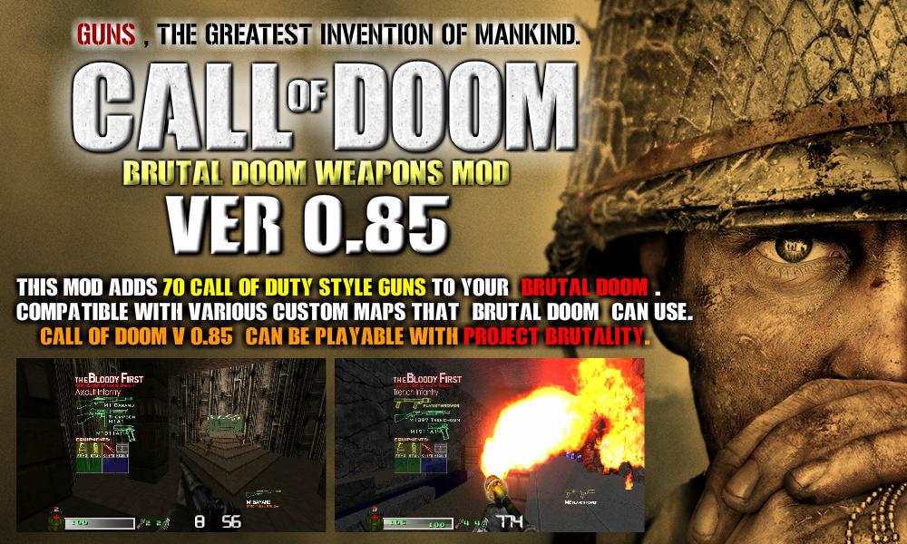 CALL OF DOOM V0 85 : COD Style 70 Weapons for DOOM addon