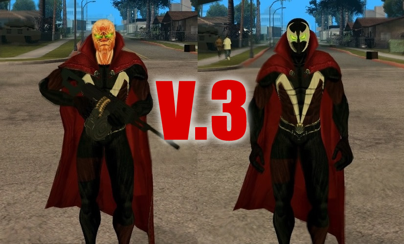 Spawn With Cape Movie Version Skin For GTA SA V3