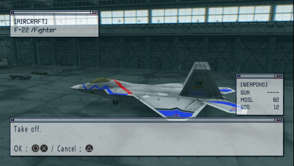 Nanoha Ace Skins for Ace Combat X