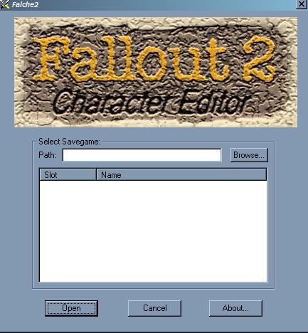 Fallout 2 Character Editor v2 10 file - Mod DB
