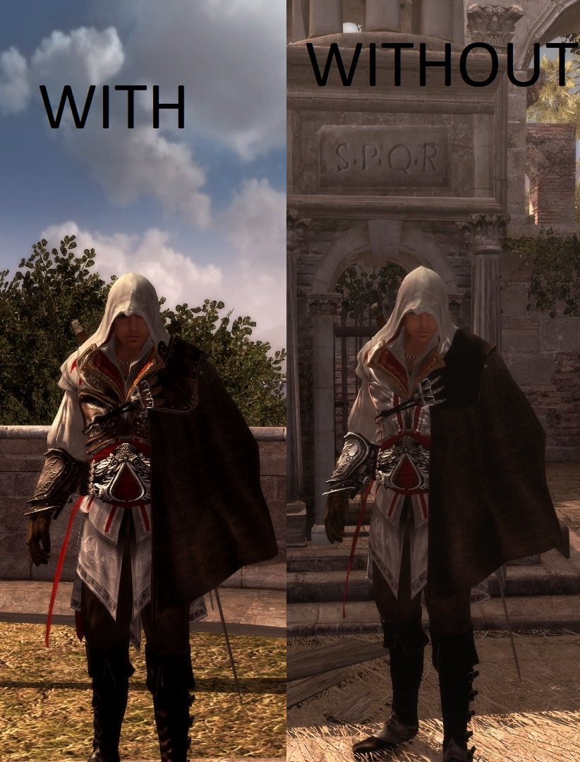 Ac2 Capes Without Armor Pack File Giovanni Outfit Mod For