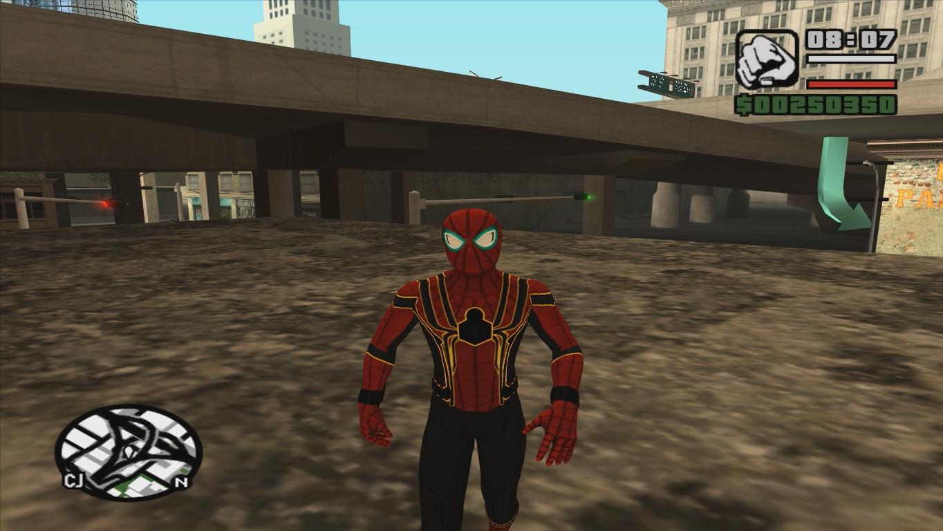 человек паук гта сан