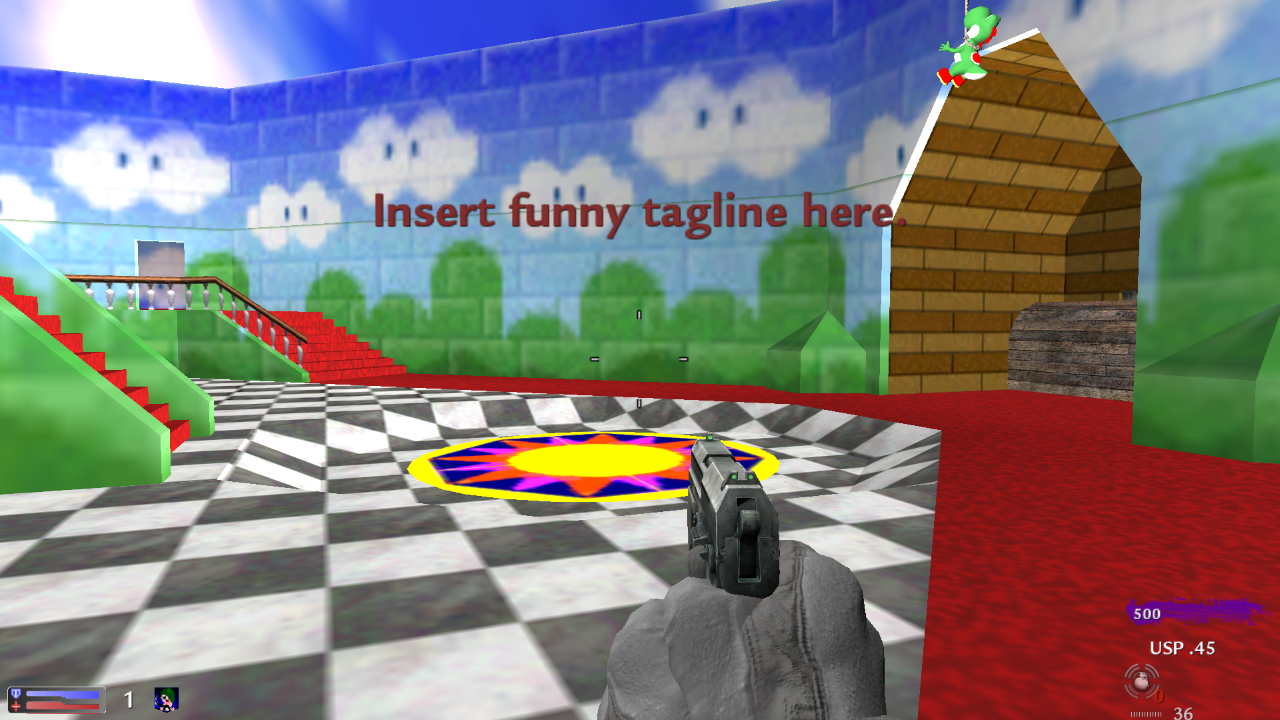 nazi_zombie_Mario_64 (Old Super Mario 64 Map) addon - Call of Duty