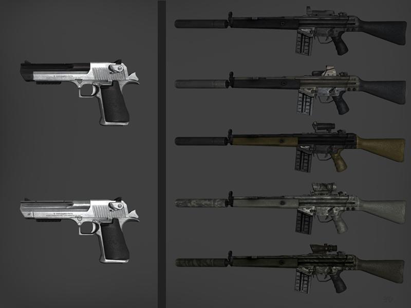 BF3 G3A3 & BF4 Deagle Skins addon - 266.3KB